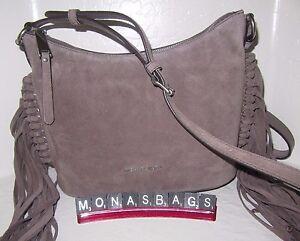 ffca28a26dad Michael Kors Billy Medium Fringe Messenger Bag Cinder Suede Leather ...