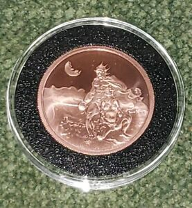 FRANK-FRAZETTA-034-SWORDSMAN-OF-MARS-034-2OZ-50MM-COPPER-COIN-IN-CAPSULE-NM-MT-NEW