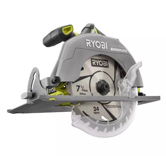 Ryobi P508 18V One+ 7-1 4 in. Brushless Circular Saw + Blade NEW