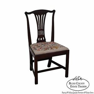 Exceptionnel Details About Berwyn Furniture 18th Century Style Mahogany Chippendale Side  Chair