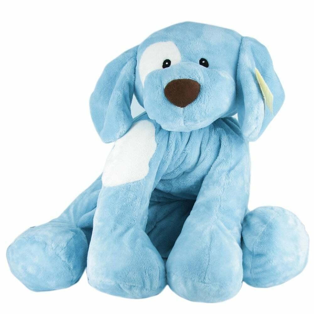 Gund Stuffing Animal Toy Dog bebis Spela Plush Gift Barn Infant Big Spunky blå ny