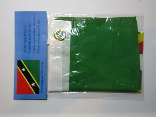 """12x18 12/""""x18/"""" Saint Kitts /& Nevis 100/% Polyester Motorcycle Boat Flag Grommets"""