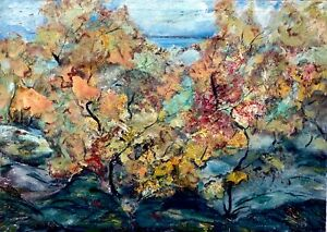painting-art-vintage-landscape-old-autumn-impressionism-decor-rare-collection