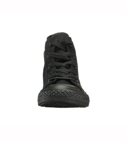CONVERSE All Star Chuck Taylor Hi Top Black Mono Canvas Sneaker 3S121 Girls Shoe