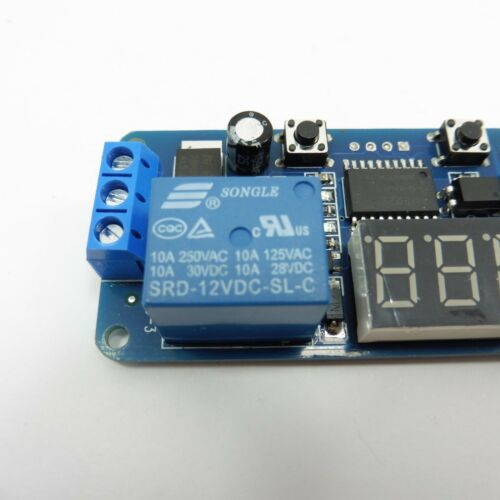 0-999s LED Display Delay Turn Off Adjustable Timer External Trigger Relay F23