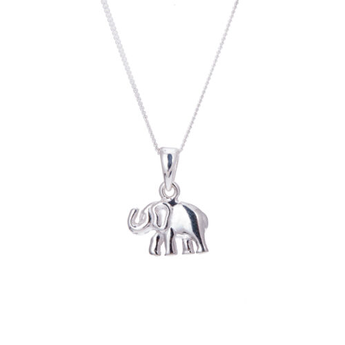14-32 Inches Sterling Silver Elephant Necklace