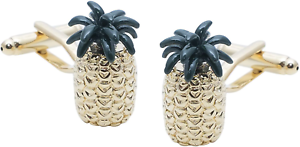 Gold Pineapple Cufflinks