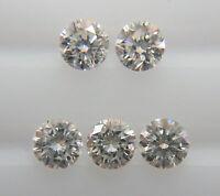 2.4mm 5pc 0.26cts Natural Loose Brilliant Cut Diamond VS2-SI1 Clarity G-H Color