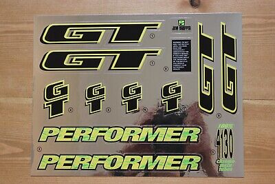Chrome Backing Reproduction 1999 GT Pro Performer BMX Decal Set