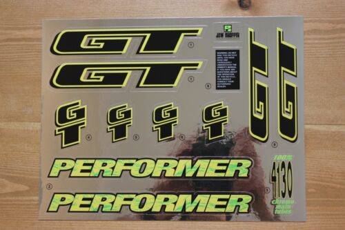 Reproduction 1994 GT Performer Bmx Decal Set-Chrome Support
