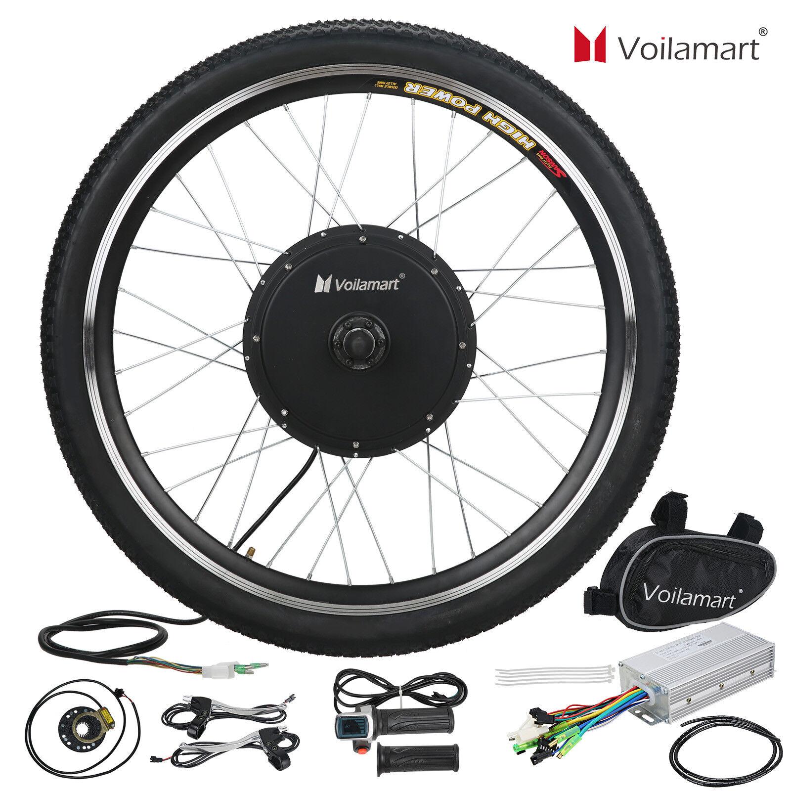 48V Front Wheel Electric Bicycle Motor Conversion Kit 1000W E Bike Cycling Hub
