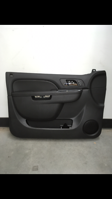 2010-2014 TAHOE YUKON BLACK DRIVERS DOOR PANEL W//HEATED SEATS NEW GM #  84127280