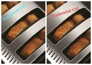 RUSSELL HOBBS 21303 LEGACY BLACK 4 SLICE STAINLESS STEEL TOASTER UK SELLER