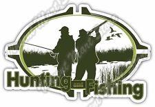 "Hunting Fishing Hunter Rifle Duck Deer Car Bumper Vinyl Sticker Decal 5""X4"""