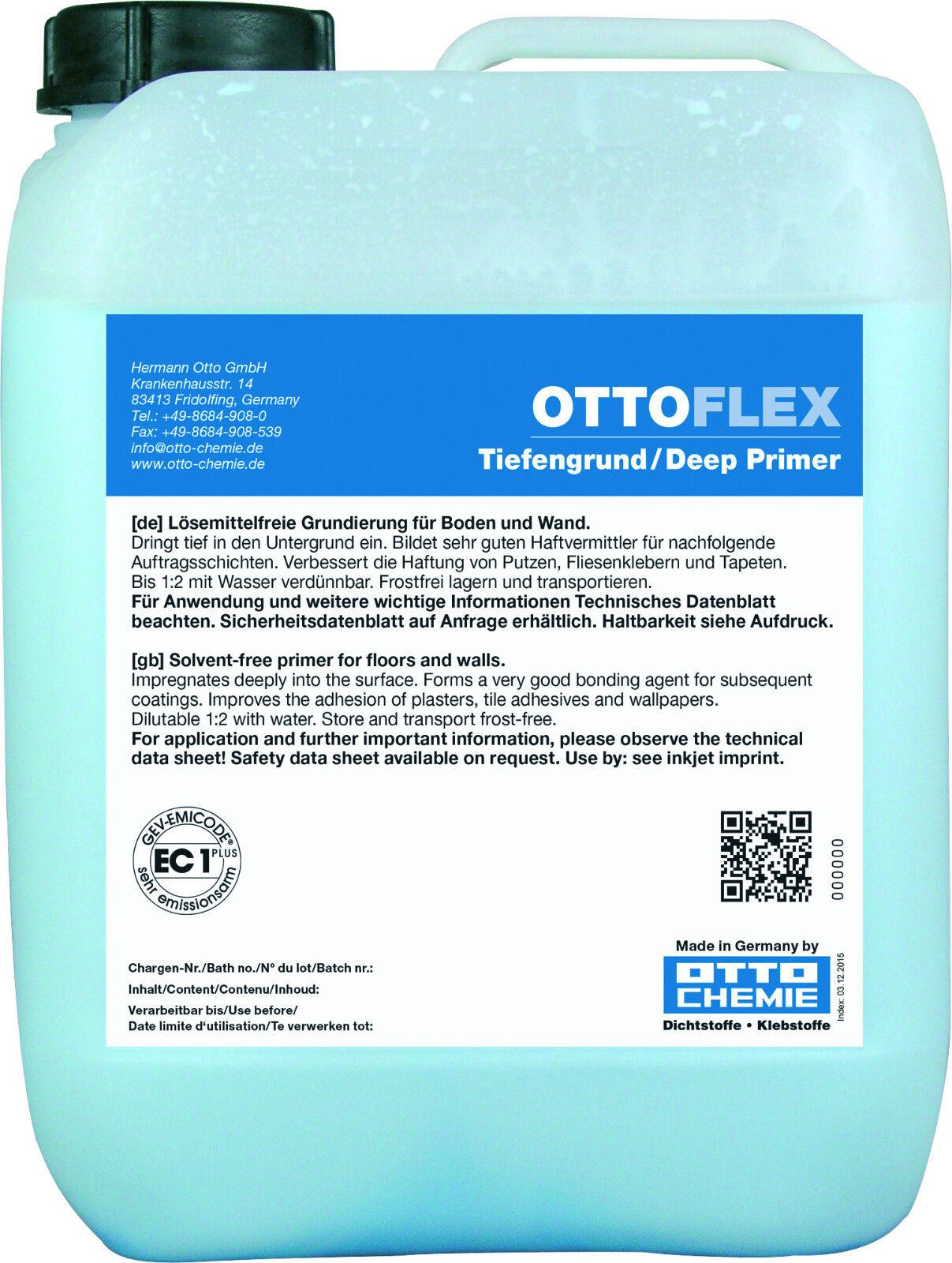 OTTOFLEX Tiefengrund 20 kg Grundierung für Putz Estrich Gipskartonplatten Steine