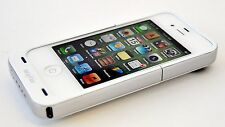 Mophie Juice Pack Air Apple iPhone 4/4s Power Pack Battery Case WHITE cover C