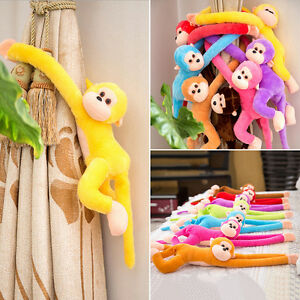 Colorful-Long-Arm-Monkey-Hanging-Soft-Plush-Doll-Stuffed-Animal-Kids-Baby-Toy-Vv