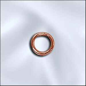 ONE-HUNDRED-Beadsmith-5mm-CLOSED-soldered-Copper-Jump-Rings-100