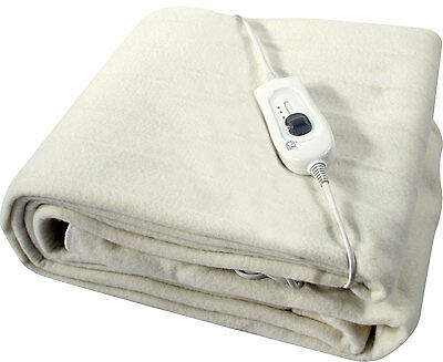 KING / DOUBLE / SINGLE SIZE ELECTRIC BLANKET FAST PRE HEAT WITH 3 HEAT SETTINGS