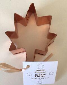 Copper Leaf Cookie Cutter Made In USA