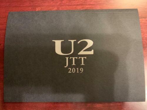 U2 JOSHUA TREE TOUR 2019 SS seat Benefits Set Guiter Pick Member signed JAPAN