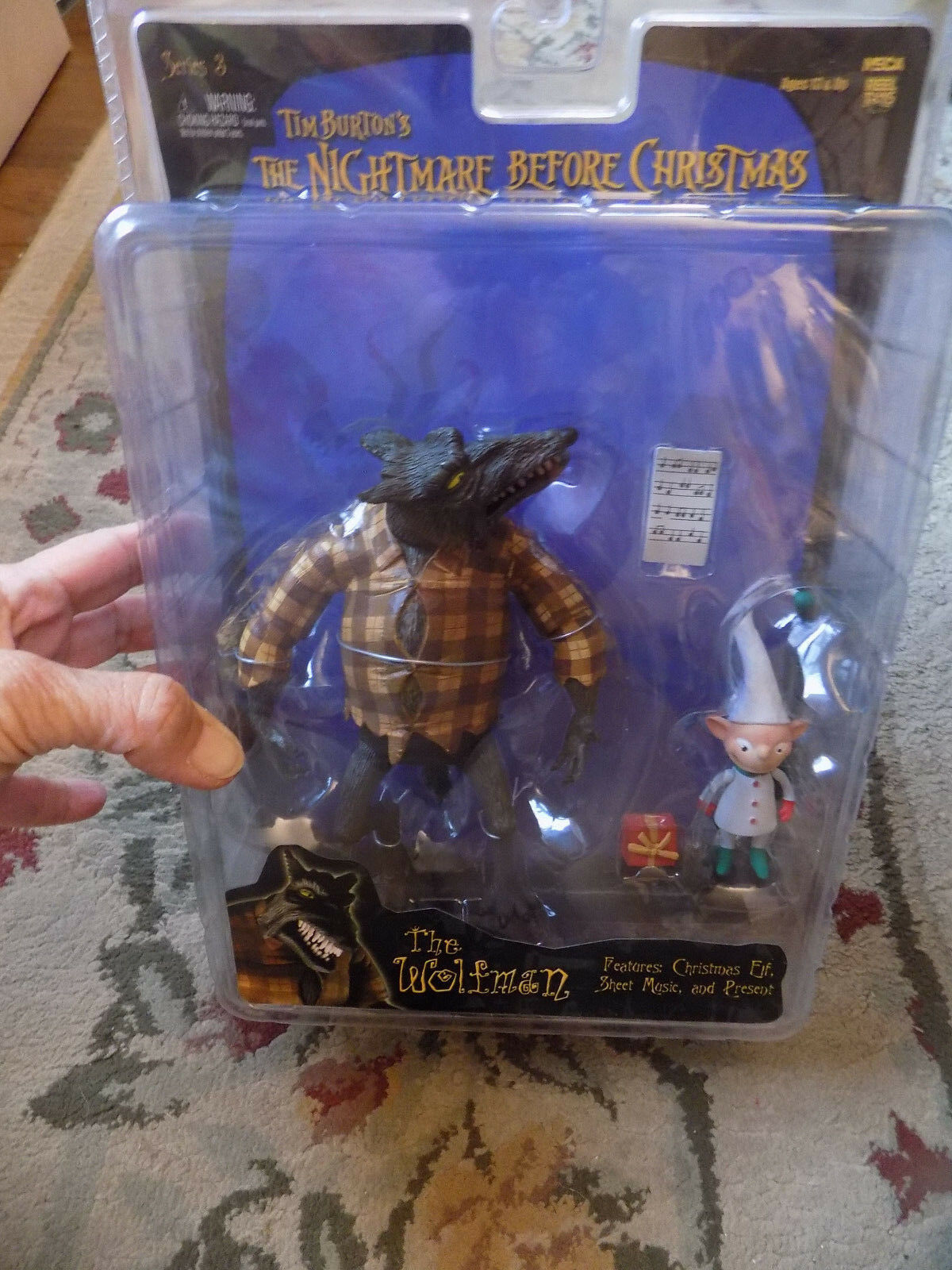 Nightmare Before Christmas Series 3 Action Figure The Wolfman 2day Ship