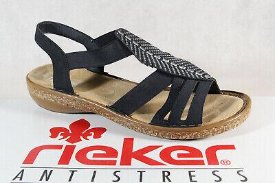 Rieker Damen Sandale blau 628G6 14