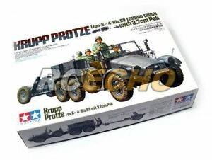 Tamiya-Military-Model-1-35-KRUPP-PROTZE-Towing-Truck-w-3-7cm-Pak-Hobby-35259