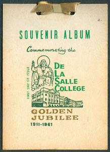 Philippines-DE-LA-SALLE-COLLEGE-GOLDEN-JUBILEE-1911-1961-Souvenir-Album-FDI