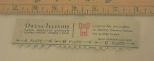 Vintage-Owens-Illinois-Paper-product-division-Toledo-Ohio-ruler-rule-6-034