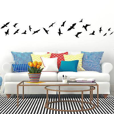 "10212 Sticker Mural /"" Vögel 20teilig /"" Oiseau Vol D/'Oiseau Zugvögel Set Nature"