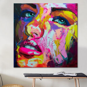 Francoise-Nielly-Face-Palette-Knife-oil-Painting-wall-art-pictures-home-decor07