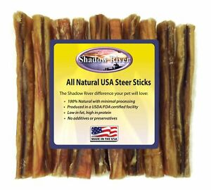 10-Count-6-inch-THICK-Shadow-River-USA-STEER-Bully-Sticks-Dog-Treats-Chew