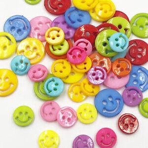 50pcs-12MM-18MM-Smile-Plastic-Buttons-Children-039-s-Apparel-Sewing-DIY
