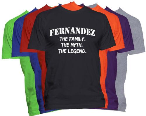 FERNANDEZ Last Name T Shirt Custom Name T Shirt Family Reunion Family Name Tee