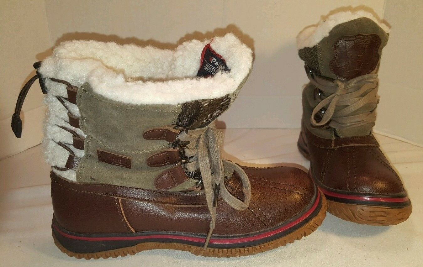 NEW WOMEN'S PAJAR BROWN ICELAND Stiefel WATERPROOF SHERPA LINED LEATHER Stiefel ICELAND SIZE 6 6.5 68bb8e