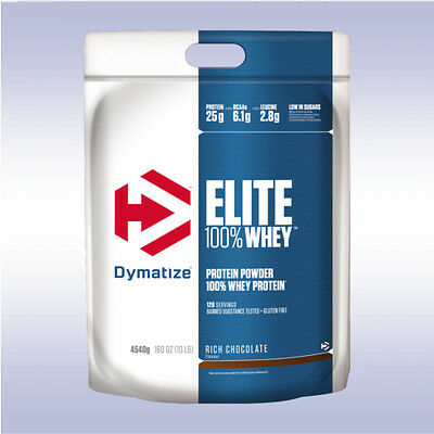 DYMATIZE ELITE 100% WHEY PROTEIN (10 LB) 25g isolate concentrate peptide powder