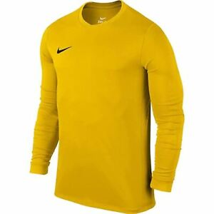 Nike Pour Hommes Manches Longues Park jersey training shirt football soccer jaune 733359/01