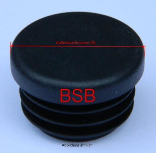 10 Lamellenstopfen Ø76 mm WS 1,5-2,5 mm rund Rohrkappen schwarz