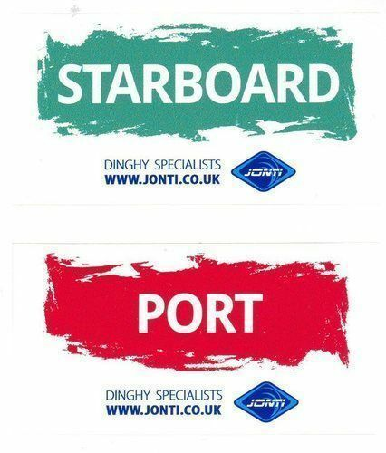Dinghy sailing port and starboard sticker windsurfing