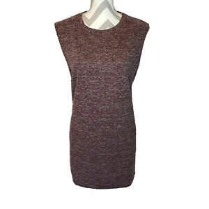 Banana-Republic-Sleeveless-Sweater-Dress-XL-Red-Career-Wear-Casual