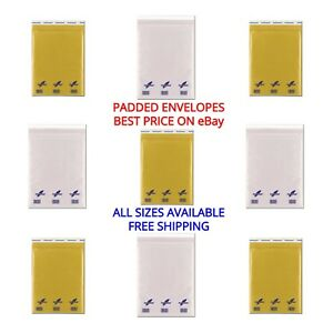 Gold-or-White-Genuine-Featherpost-Padded-Bubble-Envelopes-All-Sizes-amp-Quantities