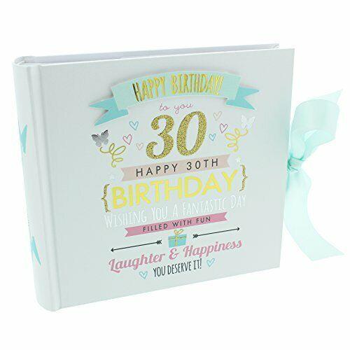 """Signography 30th Cumpleaños álbum de fotos 4/""""x6/"""" Diseño Pastel FL30030"""