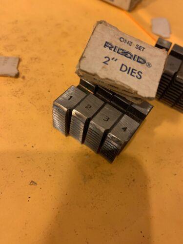 "Ridgid Alloy Pipe Threading Dies 2"" 12R NPT Set 4 USA Opine Dies z42"