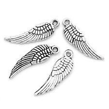Lot 10 Pendentif Aile D'ange couleur argente, Pendant, Cretion collier, bijoux