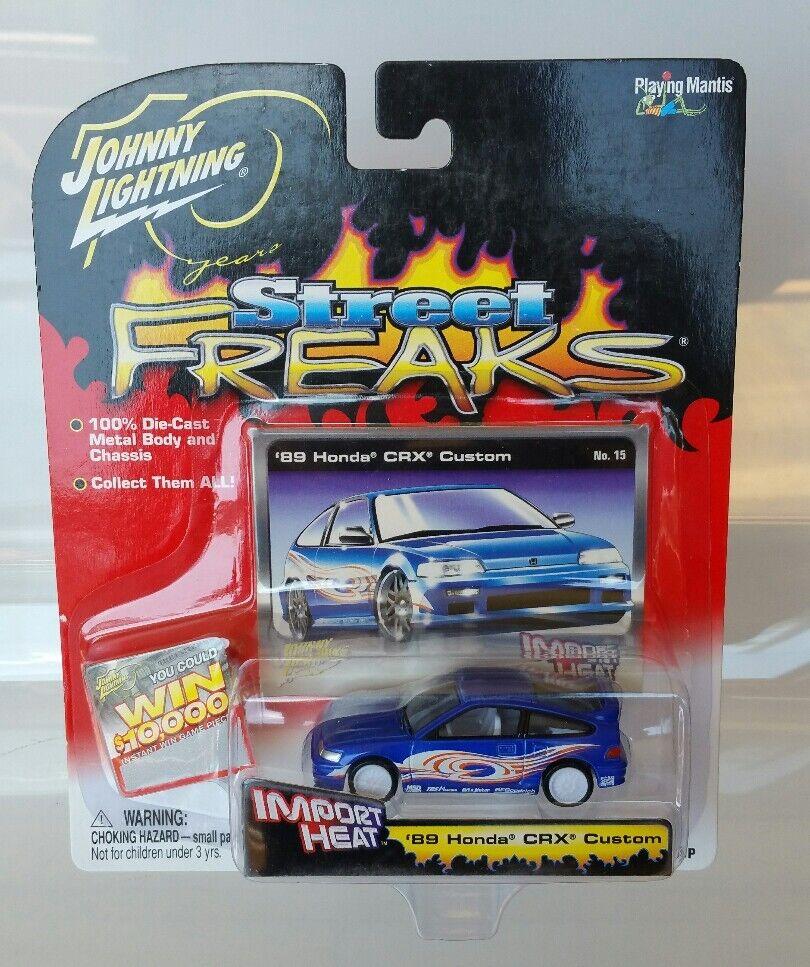 Rare Johnny Lightning 1989 Honda CRX Custom White Lightning Chase bluee