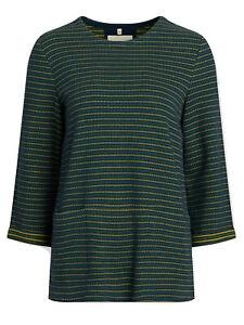 Seasalt-ladies-sweatshirt-top-size-12-14-overture-green-stripe-design-pockets