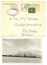 NEDERLAND  1953-7- 2  CV + PPC  HOL. W-AFRIKA LIJN = M.S. SAPAROEA =  F/VF