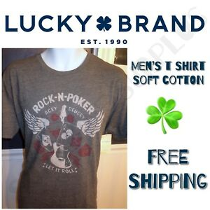 LUCKY-BRAND-Mens-039-Graphic-Vintage-Tee-T-Shirt-ALL-SIZES-SALE