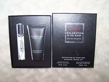Cartier Declartion D'un Soir Eau De Toilette Weekend Travel Kit, NEW, Great Gift